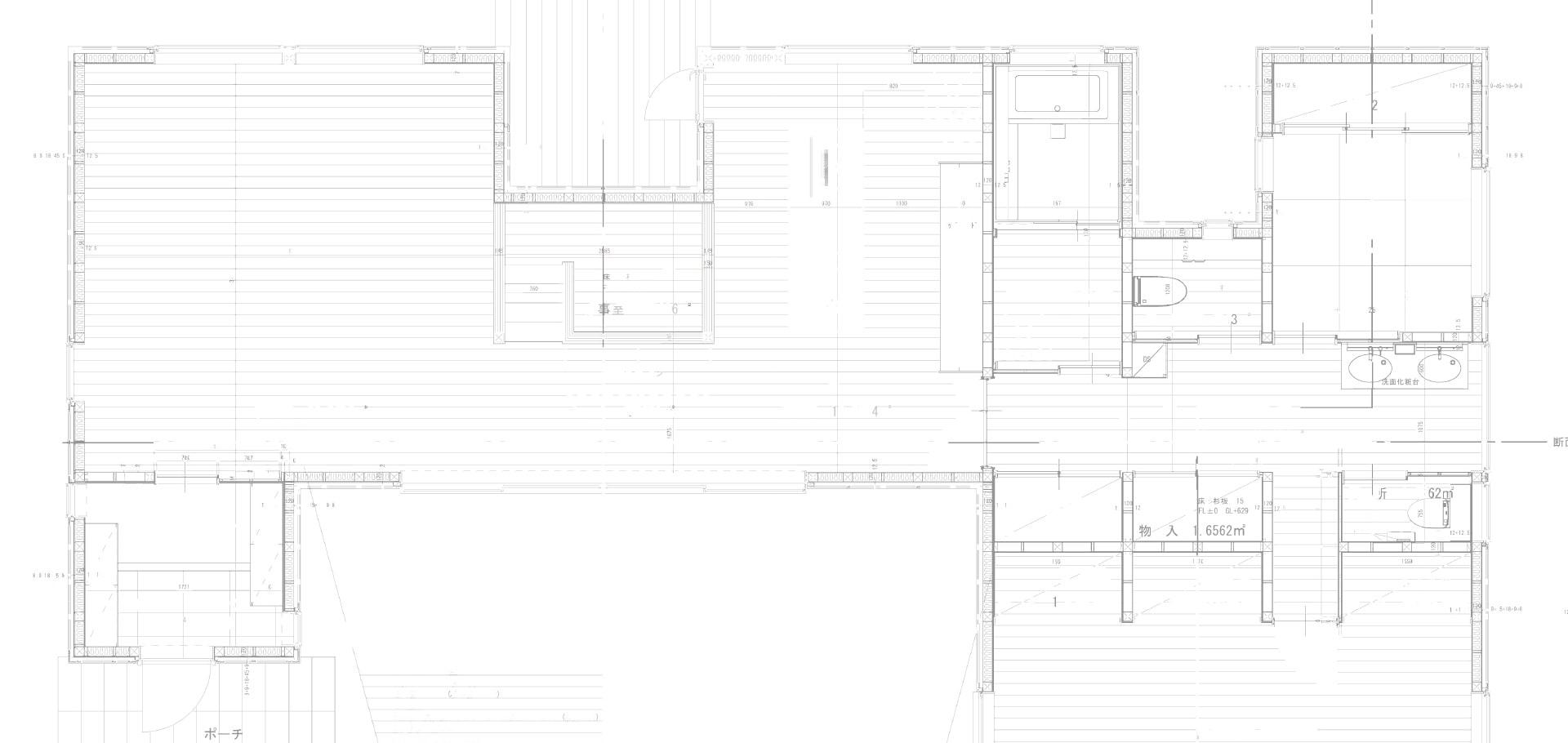 空間を意識した設計図面